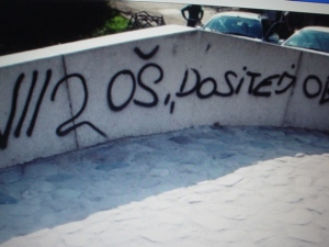 Grafit na Belom mostu