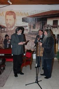 Petar Milosevic prima nagradu B.Stankovic