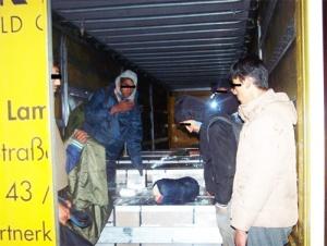 Emigranti u kamionu